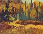 Moose Pond (1918) - Frank H Johnston