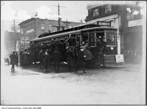 The first rumors of an Armistice had excited Torontonians stopping traffic to spread the word.