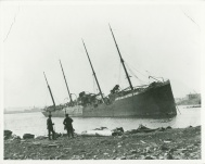 A tsunami caused by the explosion washed the SS Imo over to Dartmouth's side of the harbour.