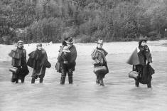 Men weren't the only ones interested in making a profit up in the Yukon. Some, like these women, came to work in the entertainment industry. Others came and worked in mines or in various businesses above ground.