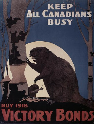 Not sure who the government was targeting with this poster unless beavers could purchase war bonds as well.