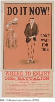 Following the initial first waves of volunteers, recruitment became harder and harder until conscription became a reality in 1917.