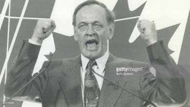 Jean Chretien at a campaign rally in the 1993 General Election.