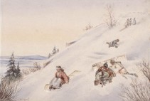 Tobogganing on the Citadel (c. 1856)