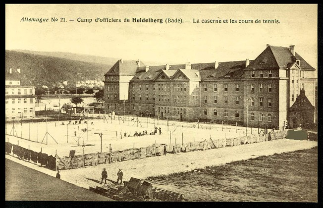 Heidelberg, Baden, Germany The barracks and tennis courts in an officers' camp (ICRC, Germany)