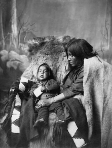 Blackfoot Mother and Child. (A. Ross, 1888).