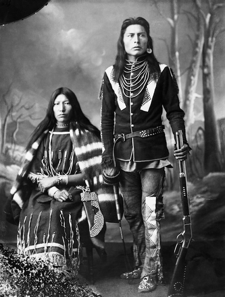 First Nations Husband and Wife, (A. Ross, 1886).