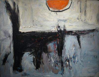 Walter Yarwood (1917-1996) was born in Toronto and was largely self-taught. He worked as a freelance commercial artist and briefly shared a studio with Oscar Cahén. His style is described as lyrical and favored dense colours and broad strokes. He decided to give up on painting however in 1960 and chose to work as a sculptor instead. He received many commision to create major sculptures for government buildings, universities, and airports. In his final years, he returned to painting and focused on airy landscapes.