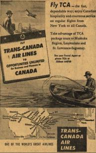 Another example of TCA advertising abroad to bring tourists to Canada.