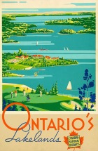 Airplane companies weren't the only ones behind travel ads. Here's one suggesting that there's no better way to see Ontario's many lakes than by train.