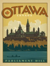 This is a more subdued ad. It showcases Ottawa's dual appeal: history and nature. As you can see, nature was a major theme in our travel ads.