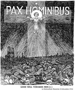 """Nothing says Christmas like widespread death! Pax Hominibus is """"Peace on earth."""""""