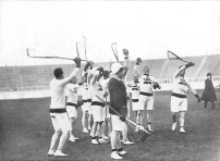 Canadian Olympic Lacrosse Team (1908 London Games). There were only two lacrosse teams, Canada and Britain. Canada took home gold and Britain won silver.
