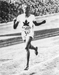 """The """"Man of Bronze"""" and one of Canada's most decorated Olympians, Edwards won bronze in the 800m race in 1936. He was one of the few black athletes to represent Canada during the 1920-30s. Earlier that year, he was also the first black person to graduate from McGill's medical school."""