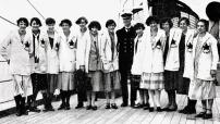 Canada's women's athletics team poses at the 1924 Paris Games. (CP Photo/COA)
