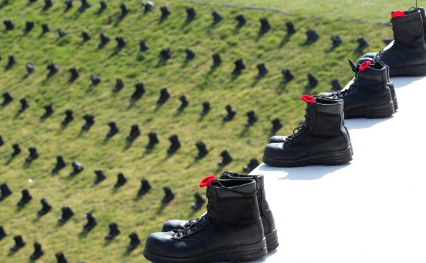 Boots at Vimy to Mark the Fallen