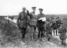 Arthur Currie Rehearsing at Vimy Ridge