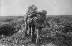 Wounded coming in at the Battle of Vimy Ridge